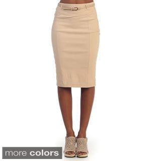 Hadari Women's Knee-length Pencil Skirt