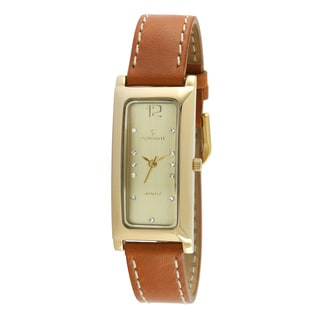 Peugeot Women's 3029G Goldtone Dial Tan Leather Watch