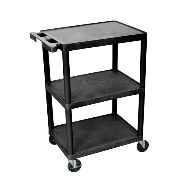 Luxor 3 Shelf Cart with Push Handle