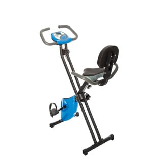 FitLife Blue Folding Upright Magnetic Resistance Exercise Bike