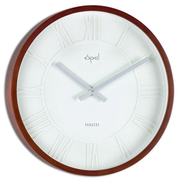 Opal Bamboo Case Roman Dial Round Clock