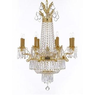 Empire Crystal 12-light Gold Chandelier