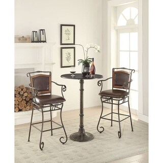 Waterson Padded Back Swivel Bar Stool With Arms 16575670