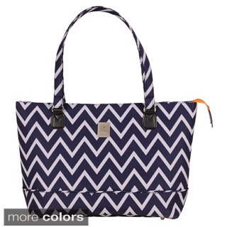 Jenni Chan Aria Madison 15-inch Chevron Laptop Tote