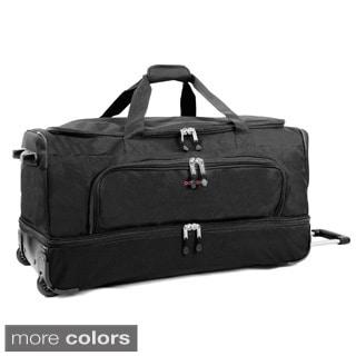 JWorld New York Piton 30-inch Drop Bottom Rolling Duffel Bag