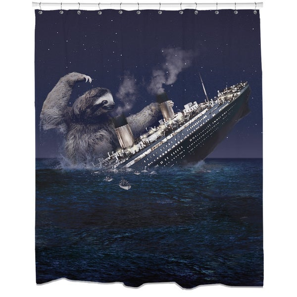 Sloth Titanic Shower Curtain