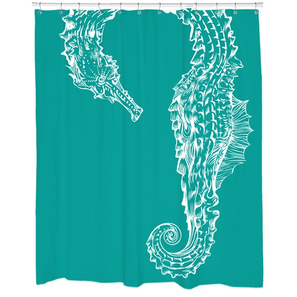 Seahorse Hug Shower Curtain