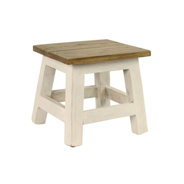 Shabby Chic Square Stool