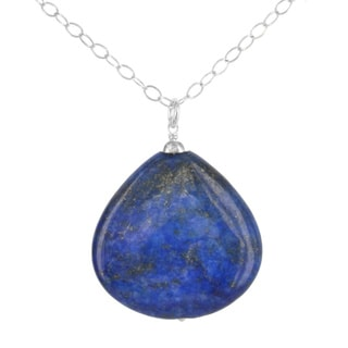 Ashanti Sterling Silver Lapis Lazuli Gemstone Handmade Necklace (Sri Lanka)