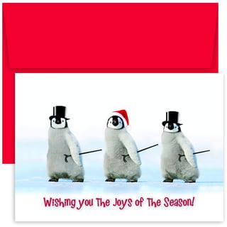 Dancing Penguins Boxed Holiday Cards