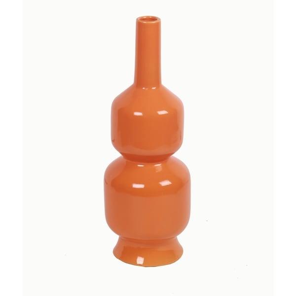 Orange Small Ceramic Vase