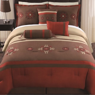 Sahara 7-piece Embroidered Comforter Set
