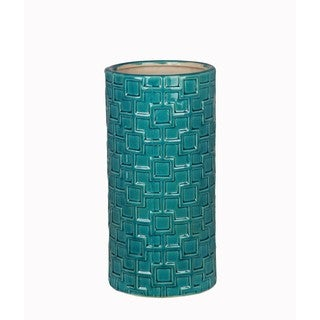 Turquoise Medium Ceramic Weave Vase
