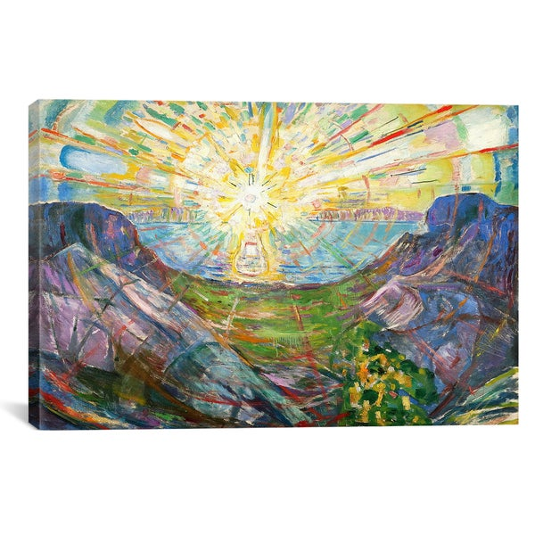 iCanvasART Edvard Munch The Sun, 1916 #2 Canvas Print Wall Art