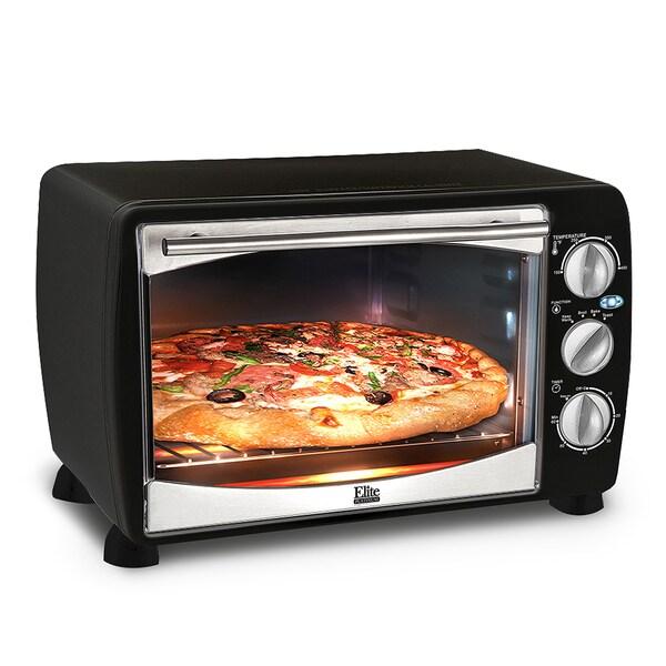 Elite Gourmet Black Convection Rotisserie Oven 13386487