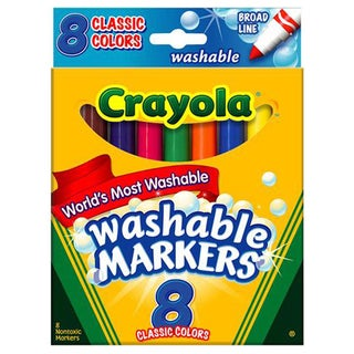 Crayola Classic Broad Tip Washable Markers (Pack of 8)