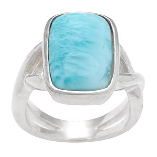 Sterling Silver Blue Larimar Ring