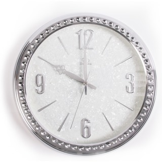Watch design Crystal Bling Jewel Embedded Stainless Steel Advance Metal Clock