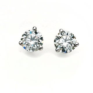 Diamonds For a Cure 14k White Gold Martini Stud Earrings (G-H, SI1-SI2)