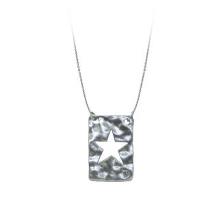 Gioelli Sterling Silver Diamond Accent Star Necklace