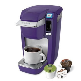 Keurig K-10 Mini Plus Single-Cup Brewer With 6 Count K-Cup Variety Pack - Purple