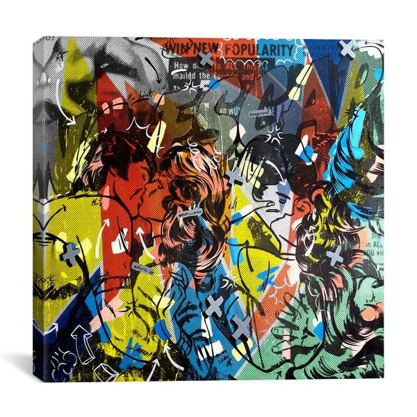 iCanvasART Dan Monteavaro Popularity Everyone is Doing It Canvas Print Wall Art
