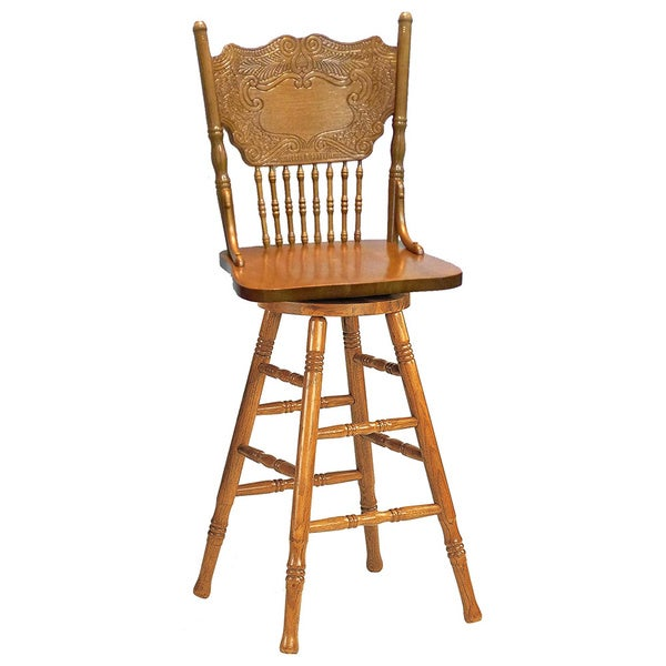 Larkin Windsor Country Style Swivel Bar Stool