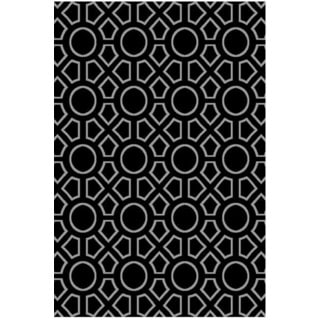 Luster (5'3 x7'7) Transitional Black Rug