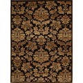 Champion Transitional Brown-Gold Rug (5'3 x 7'7)