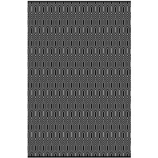 Luster Transitional Black Rug (5'3 x7'7)