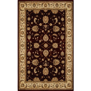Champion Transitional Black-Beige Rug (5'3 x 7'7)