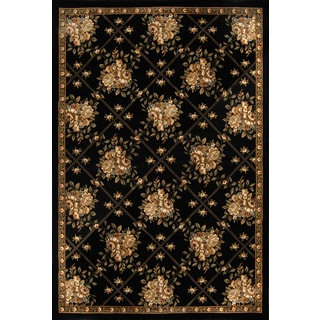 Champion Transitional Black Rug (5'3 x 7'7)