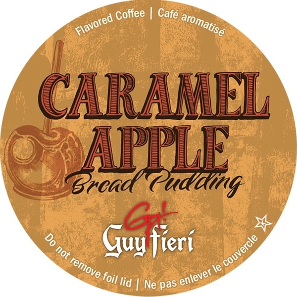 Guy Fieri Caramel Apple Bread Pudding Single Serve Coffee K-Cups