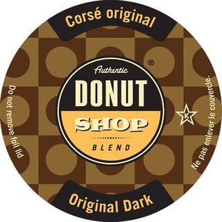 Authentic Donut Shop Original Dark Roast Single Serve Coffee K-Cups