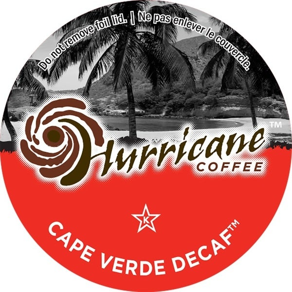 Hurricane Coffee Cape Verde (Decaf) Pack Serve Coffee K-Cups