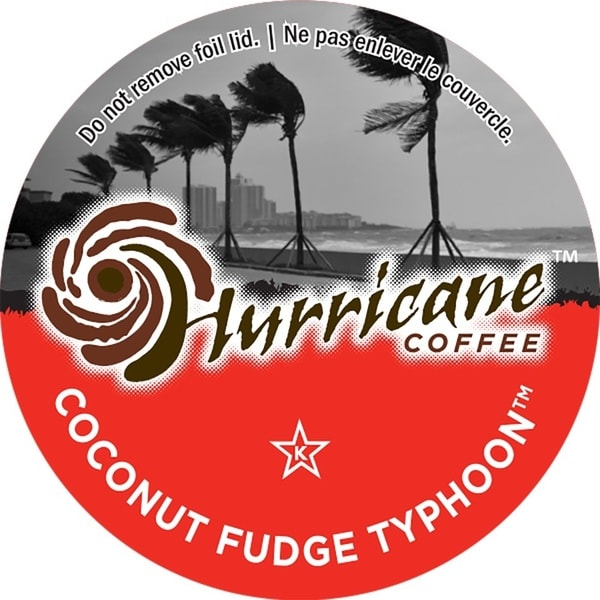 Hurricane Coffee Coconut Fudge Typhoon Single Serve Coffee K-Cups