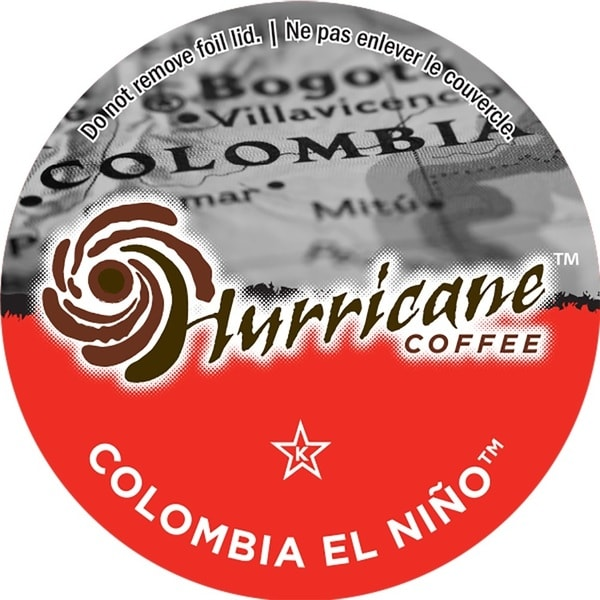 Hurricane Coffee Columbia El Nino Single Serve Coffee K-Cups