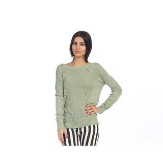 Hadari Juniors Olive Knit Casual Sweater