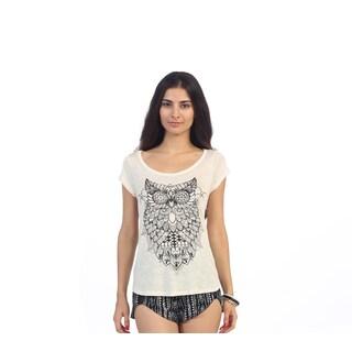 Hadari Juniors Owl-print Short Sleeve Top