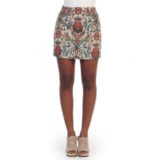 Hadari Women's Floral Print Mini Skirt