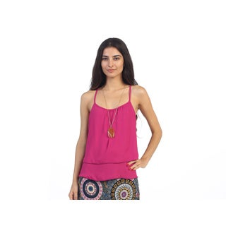 Hadari Juniors Pink Keyhole-back Top