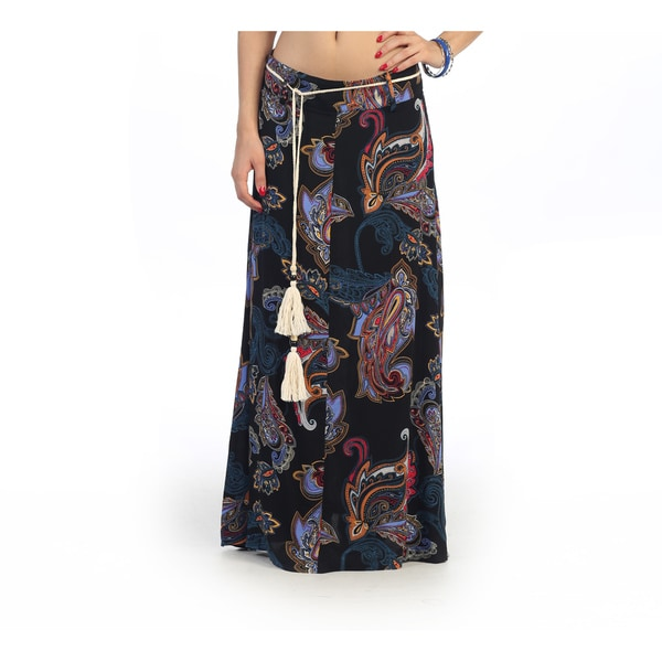 Hadari Juniors Paisley Print Maxi Skirt