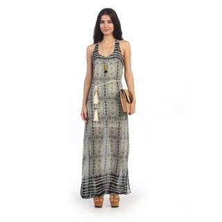 Hadari Juniors Bohemian Printed Maxi Dress