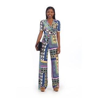 Hadari Women's Bright Geometric Jumpsuit