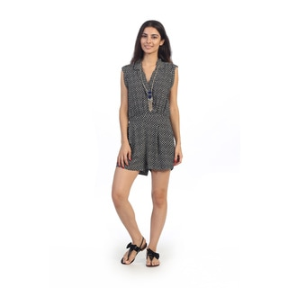 Hadari Junior's Tribal Short Sleeve V-neck Romper