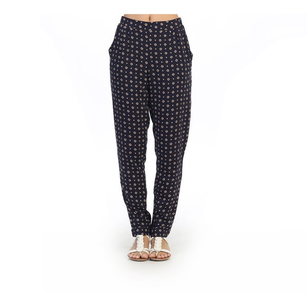 Hadari Junior's Casual Wide Leg Navy Pants