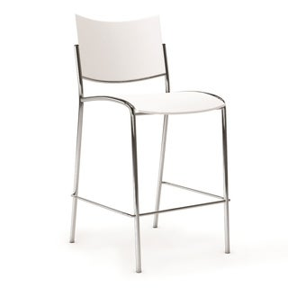 Mayline Escalate White Stacking Stools (Pack of 2)