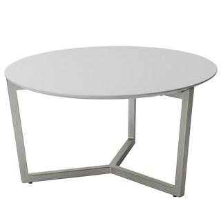 Sunpan Teagan Brushed Steel Coffee Table