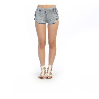 Hadari Junior's Acid Wash Side Bow Shorts
