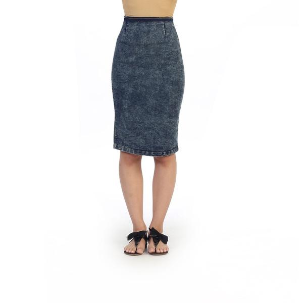 hadari junior s knee length jean pencil skirt 16414850